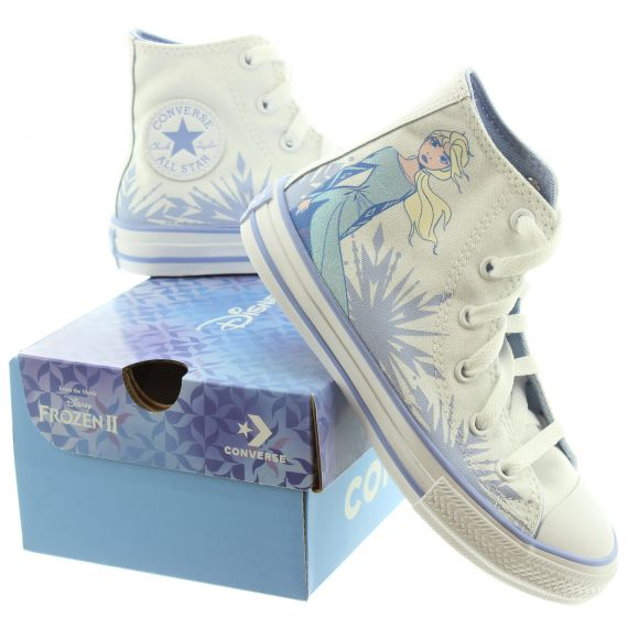 CONVERSE Kids Elsa Junior Allstar Hi Boots In White