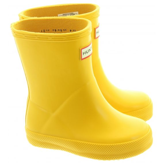 HUNTER Kids First Wellies In Yellow