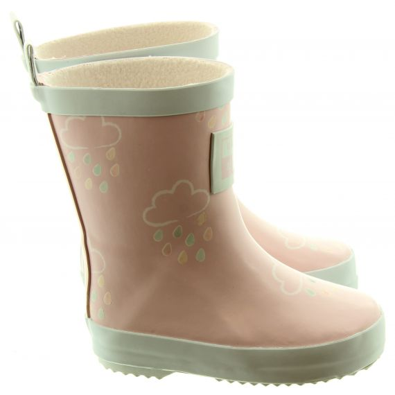GRASS AND AIR Kids GA300 Colour Changing Wellies In Baby Pink