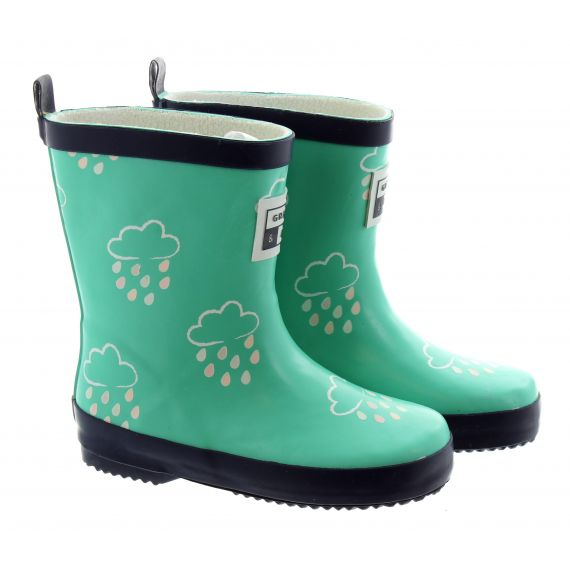 GRASS_AND_AIR Kids GA300 Colour Changing Wellies In Green
