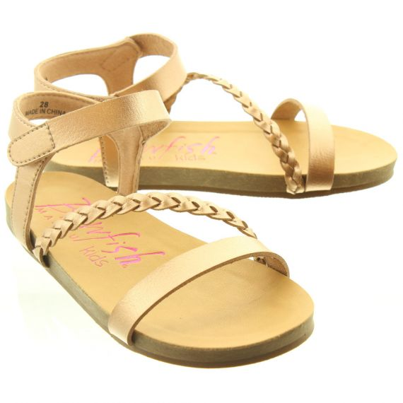BLOWFISH Kids Goya Plait Sandals In Rose Gold