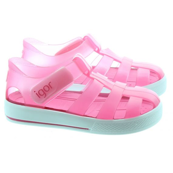 IGOR Kids IGOR Star Brillo Sandal in Fuchia