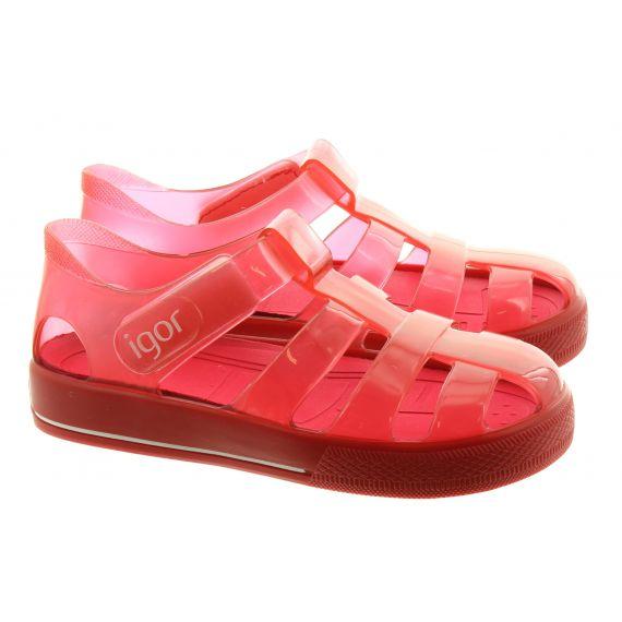 IGOR Kids IGOR Star Brillo Sandal in Red