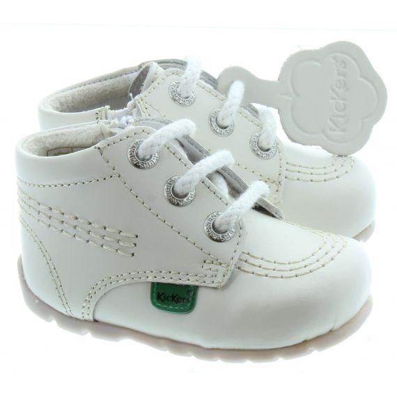 KICKERS Kids Kickhi Zip Baby in White