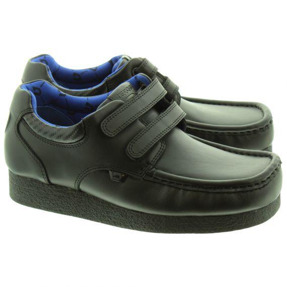 DEAKINS Kids Lieutenant Velcro Shoes In Black