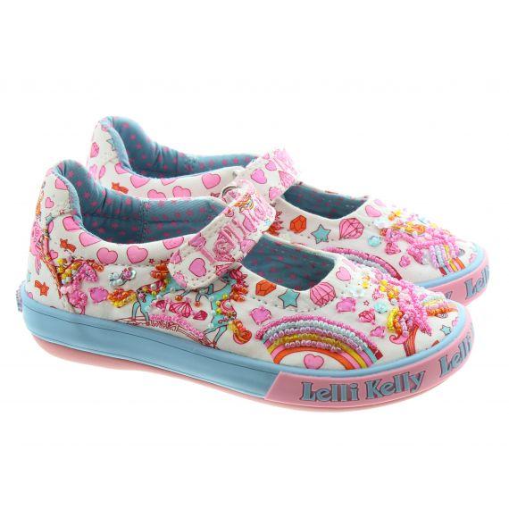 LELLI KELLY Kids LK1050 Dorothy Unicorn Bar Shoes In White