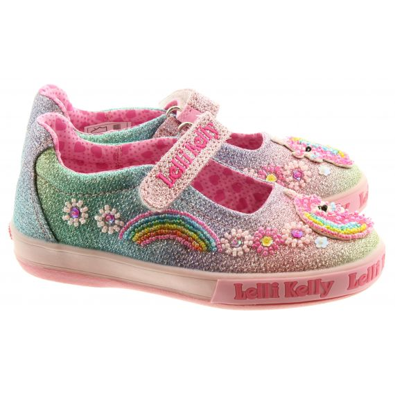 LELLI KELLY Kids LK1082 Unicorn Rainbow Bar Shoes In Multi
