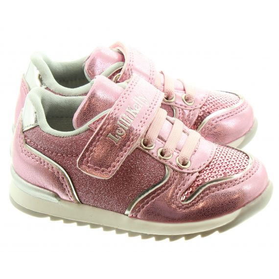 LELLI KELLY Kids LK1808 Cloe Velcro Trainers In Pink