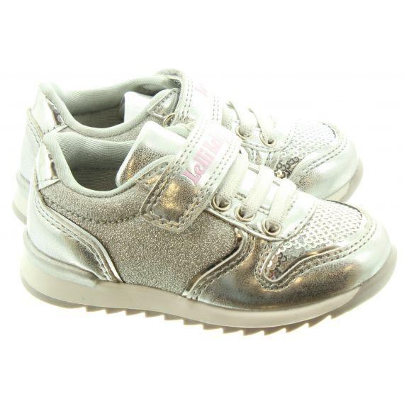 LELLI KELLY Kids LK1808 Cloe Velcro Trainers In Silver