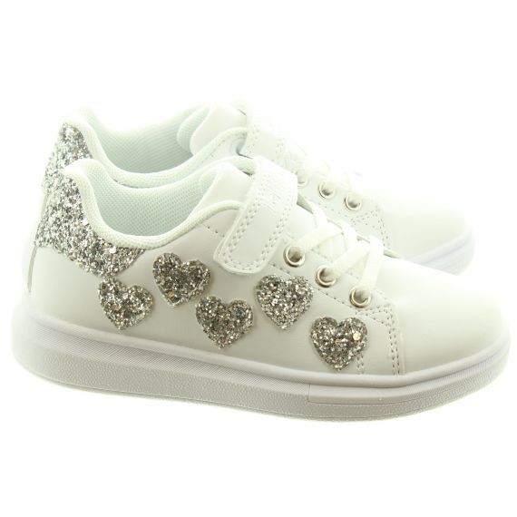 LELLI KELLY Kids LK1838 Heart Trainers In White