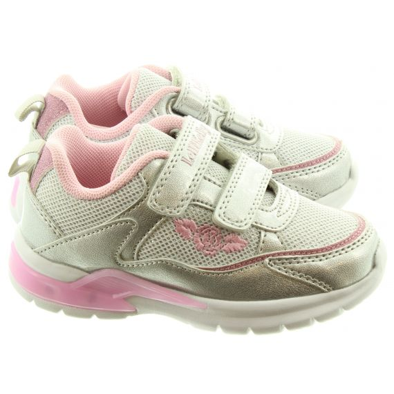 LELLI KELLY Kids LK1859 Margot Light Up Trainers In Silver