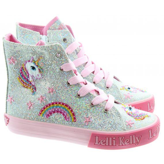 LELLI KELLY Kids LK6024 Glitter Boot in Silver