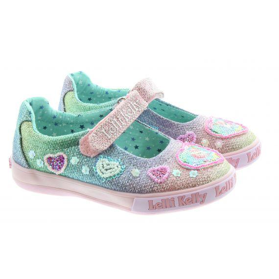 LELLI KELLY Kids LK7072 Gem Unicorn Bar shoes In Unicorn Multi Glitter