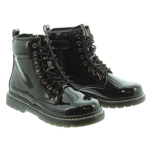 LELLI KELLY Kids LK7500 Sofia Boot in Black Patent