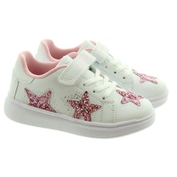 LELLI KELLY Kids LK7828 Star Trainers In White Pink