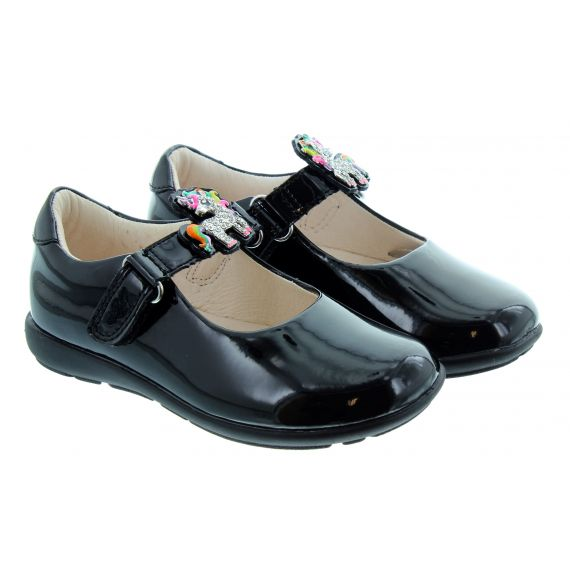 LELLI KELLY Kids LK8341 Bonnie G Width Changeable Strap Shoes In Black Patent