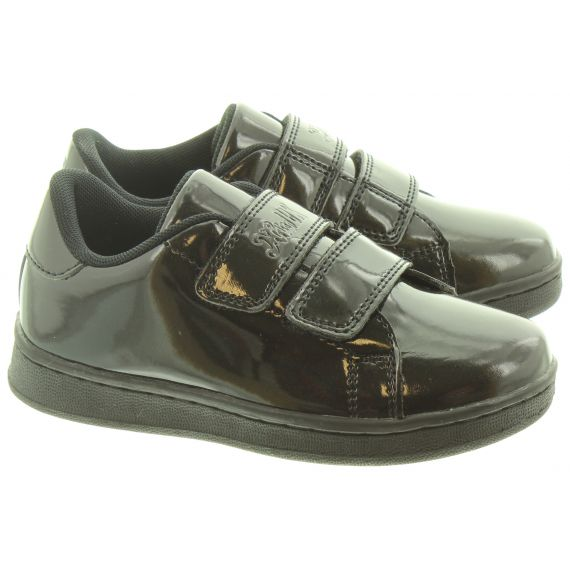 LELLI KELLY Kids LK8382 Camilla Velcro Shoes In Black Patent