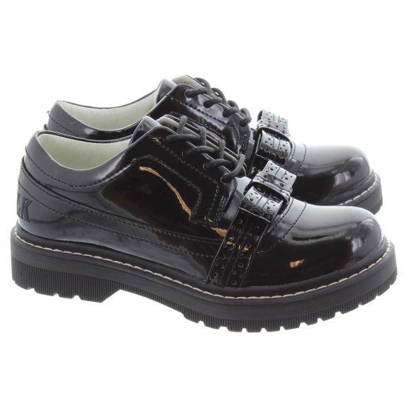 LELLI KELLY Kids LK8652 Cora Lace Shoe in Black Patent
