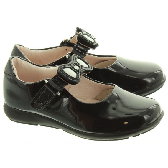LELLI KELLY Kids LK8840 G Width Bow Colourissima Shoes In Black Patent