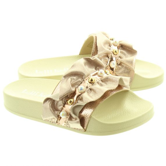 LELLI KELLY Kids LK9900 Katia Frill Slides In Gold