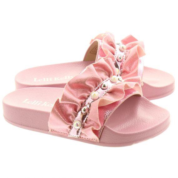 LELLI KELLY Kids LK9900 Katia Frill Slides In Pink