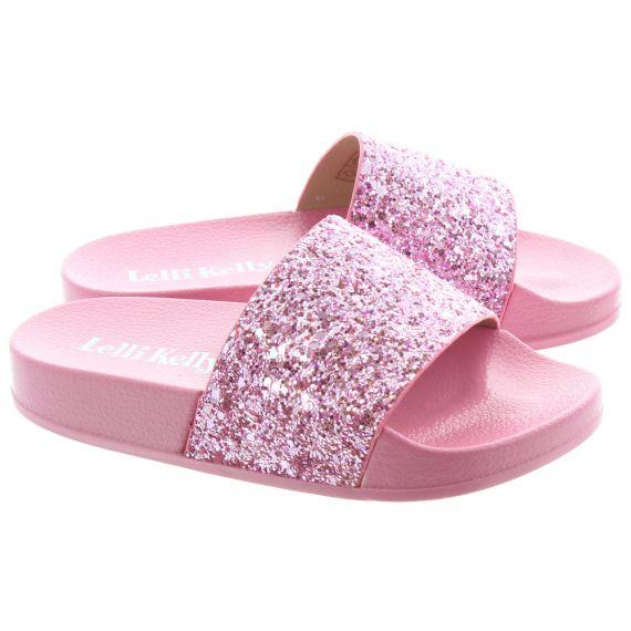LELLI KELLY Kids LK9902 Maria Glitter Sandals In Pink