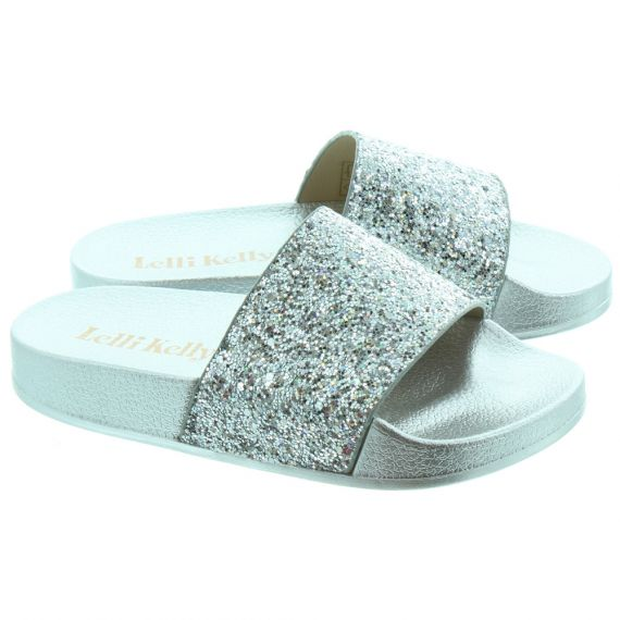 LELLI KELLY Kids LK9902 Maria Glitter Sandals In Silver