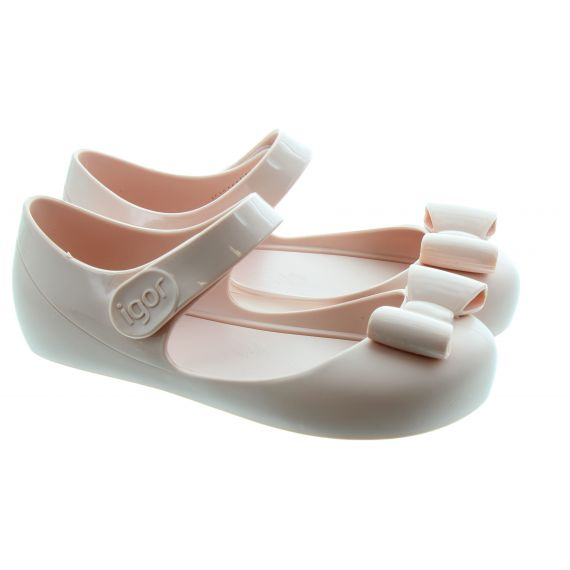IGOR Kids Mia Lazo Bow Shoes In Beige