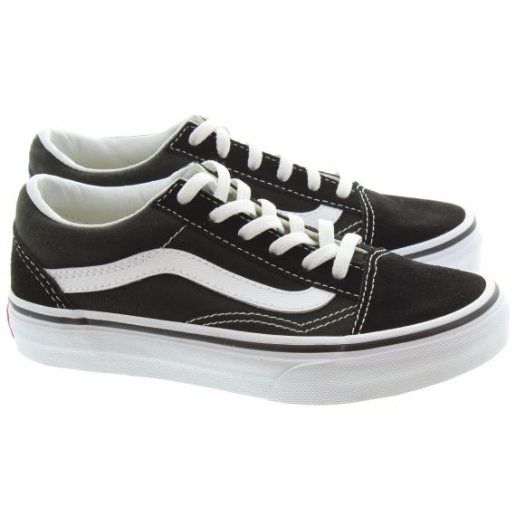 VANS Kids Old Skool Trainers In Black And White