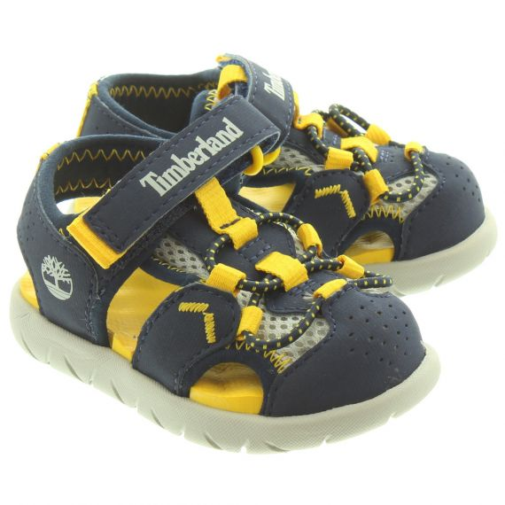 TIMBERLND Kids Perkins Fisherman Sandals In Navy