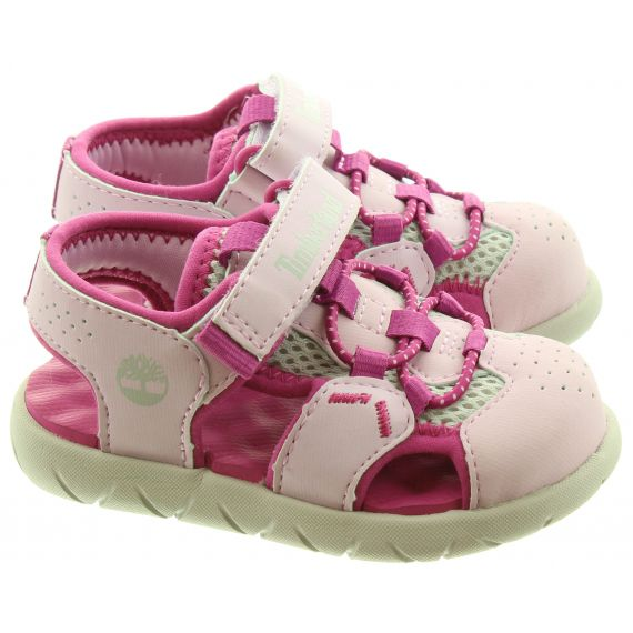 TIMBERLAND Kids Perkins Fisherman Sandals In Pink