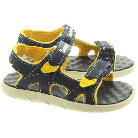 TIMBERLAND Kids Perkins Sandals In Navy