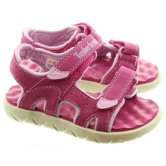TIMBERLAND Kids Perkins Sandals In Pink