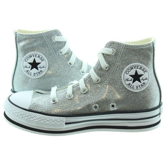 CONVERSE Kids Platform Hi Boots In Silver
