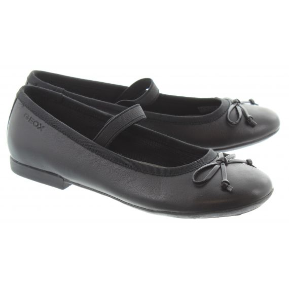 GEOX Kids Plie Plain Bar Shoes In Black