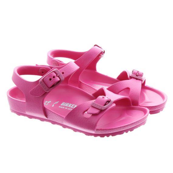 BIRKENSTOCK Kids Rio EVA Sandals In Beetroot Pink