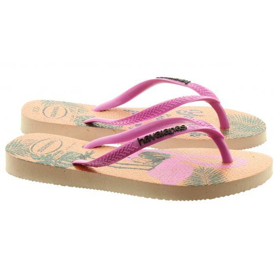 HAVAIANAS Kids Slim Glitter Sandals In Rose