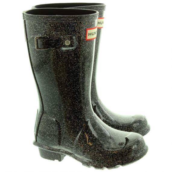 HUNTER Kids Starcloud Wellies In Black
