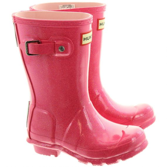 HUNTER Kids Starcloud Wellies In Pink