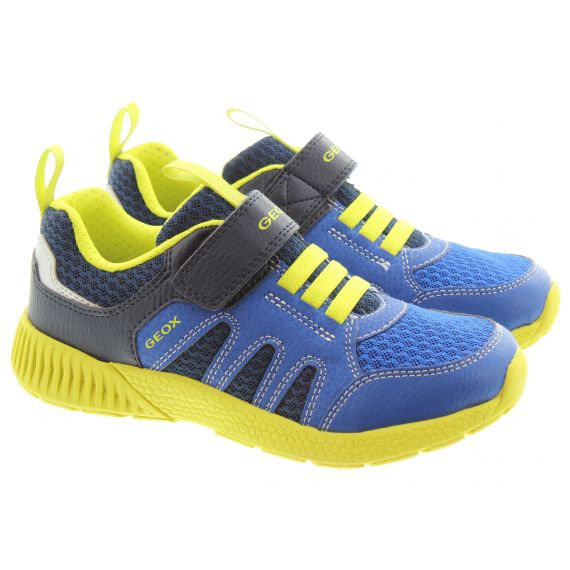 GEOX Kids Sveth Shoes In Navy Lime