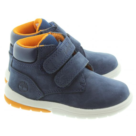 TIMBERLAND Kids Toddle Tracks Velcro in Navy