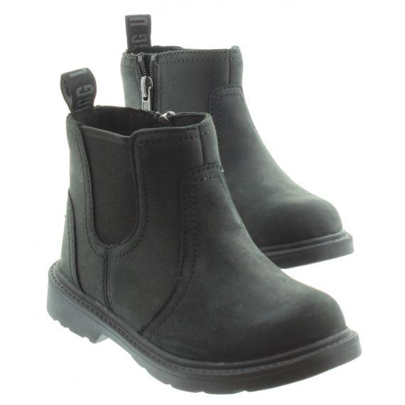 UGG Kids UGG Bolden Waterproof Chelsea Boots in Black