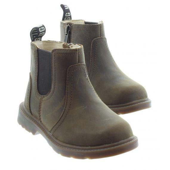 UGG Kids UGG Bolden Chelsea Boots in Walnut
