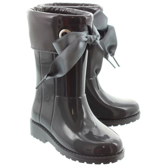 IGOR Kids 'Campera Charol' Xerise Bow Wellingtons In Grey