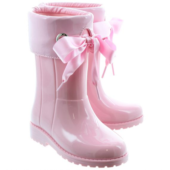 IGOR Kids'Campera Charol' Xerise Bow Wellingtons In Pink