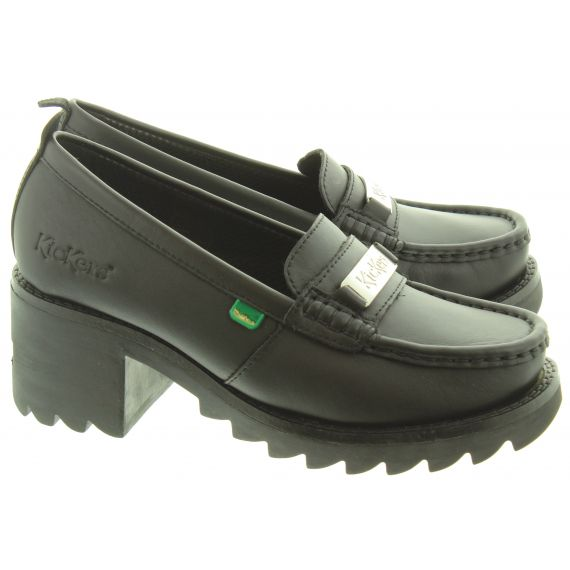 KICKERS Youth Klio Loafers In Black