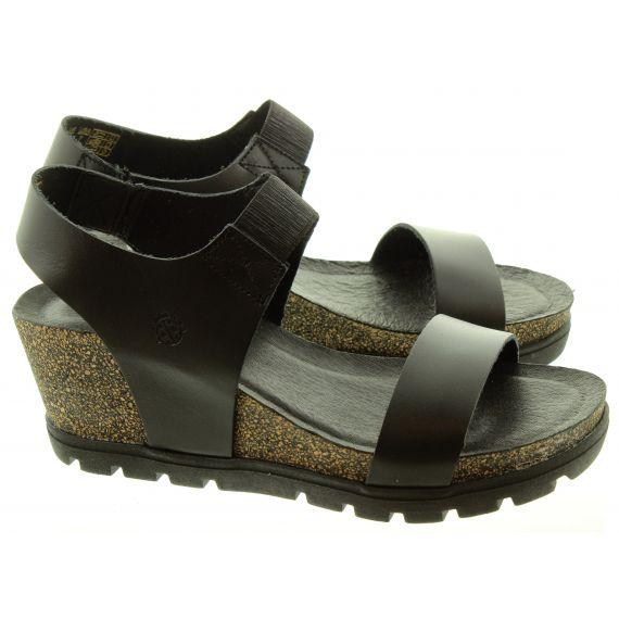 YOKONO Ladies 010 Mavile Wedge Sandals In Black