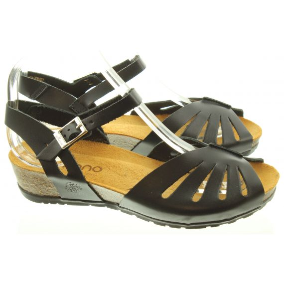 YOKONO Ladies 071 Capri Sandals In Black