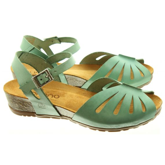 YOKONO Ladies 071 Capri Sandals In Green
