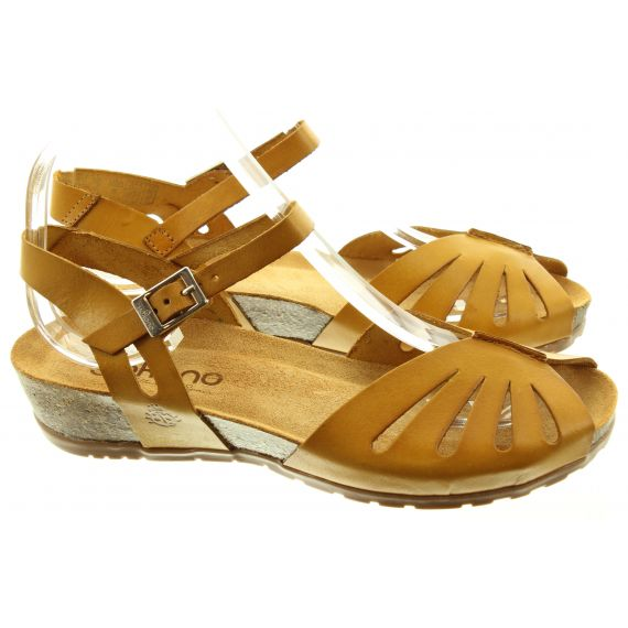 YOKONO Ladies 071 Capri Sandals In Mustard